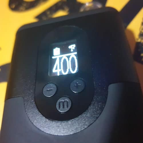 ARIZER GO ARGO MENU BUTTONS CONTROLS